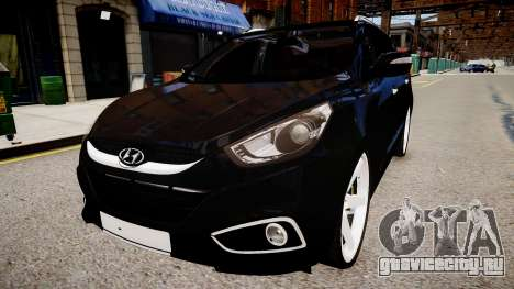 Hyundai ix35 DUB vs 2 для GTA 4 вид сзади слева