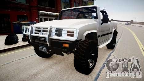 Patriot Jeep для GTA 4 вид справа