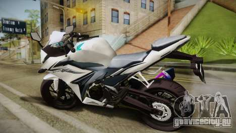 Honda CBR150R 2016 White Row для GTA San Andreas вид слева