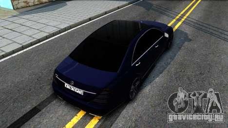 Mercedes-Benz S70 для GTA San Andreas вид сзади