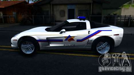 Chevy Corvette Z06 Hometown PD 2006 для GTA San Andreas вид слева