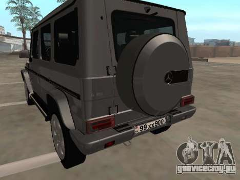 Mercedes-Benz G500 Armenian для GTA San Andreas вид сзади