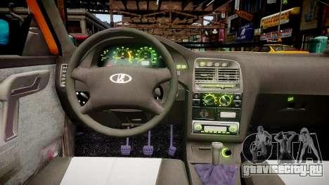 ВАЗ 2112 Такси для GTA 4 вид изнутри