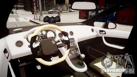 Peugeot 308 GTi 2011 для GTA 4 вид изнутри