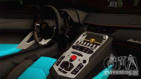 Lamborghini Aventador LP700-4 Liberty Walk LB для GTA San Andreas вид изнутри