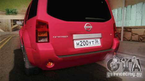 Nissan Pathfinder для GTA San Andreas вид сбоку