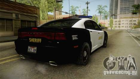 Dodge Charger Sheriff для GTA San Andreas вид сзади слева