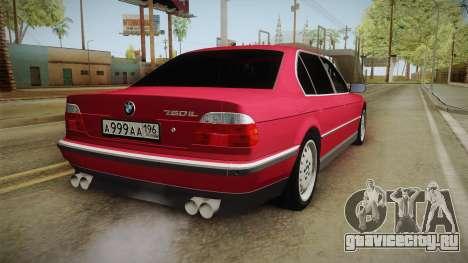 BMW 750iL для GTA San Andreas вид справа