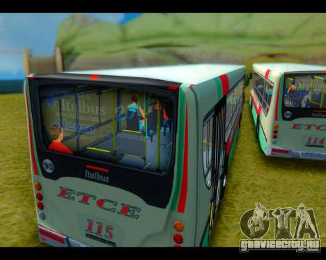 Italbus Bello 2016 115 ETCE для GTA San Andreas вид сзади