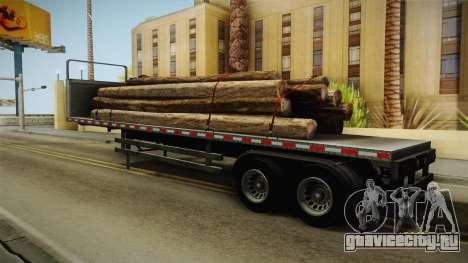 GTA 5 Log Trailer v2 для GTA San Andreas вид сзади слева