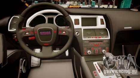 Audi Q7 CTI для GTA 4 вид изнутри