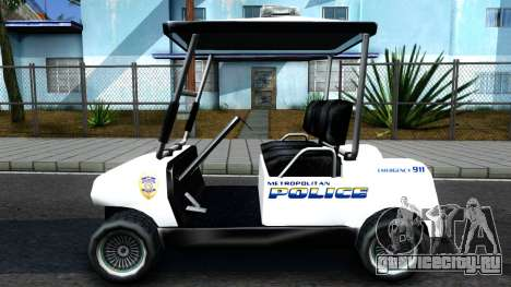 Caddy Metropolitan Police 1992 для GTA San Andreas вид слева