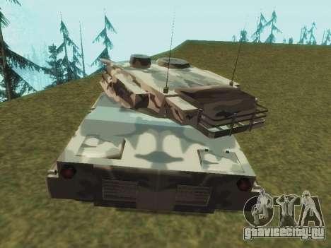 Rhino зимний камуфляж для GTA San Andreas вид справа