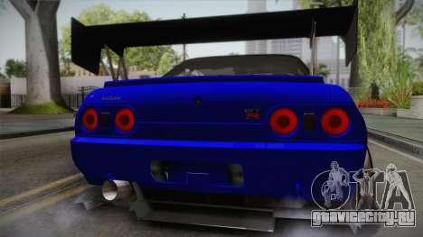 Nissan Skyline GTR32 Rocket Bunny для GTA San Andreas вид сзади