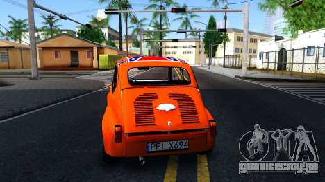 Zastava 850 Abarth General Lee для GTA San Andreas вид сзади слева
