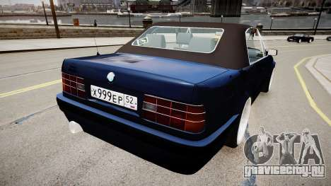BMW E30 325i 1989 Cabrio для GTA 4 вид сзади слева