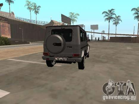 Mercedes-Benz G500 Armenian для GTA San Andreas вид справа