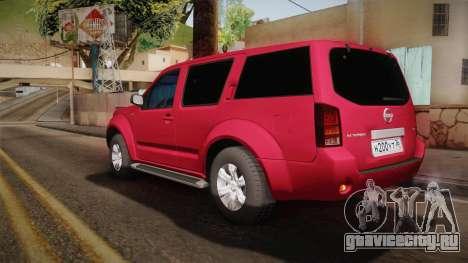 Nissan Pathfinder для GTA San Andreas вид слева