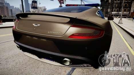 Aston Martin Police для GTA 4 вид сзади слева