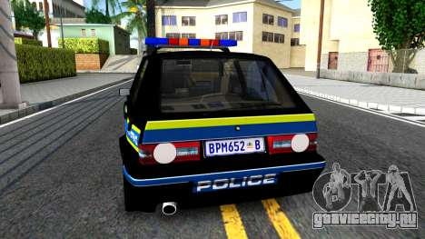 Volkswagen Golf Black South African Police для GTA San Andreas вид сзади слева