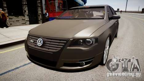 Volkswagen Passat Variant R50 Dub для GTA 4 вид справа