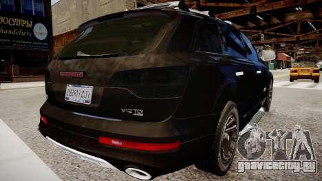 Audi Q7 CTI для GTA 4 вид сзади слева