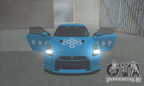 Nissan GTR Egoist 2011 (Флаг Казахское ханство) для GTA San Andreas вид изнутри