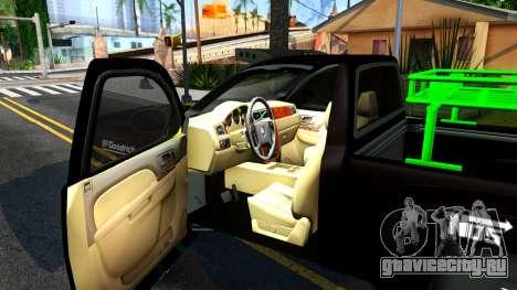 Chevrolet Silverado Monster Energy V2 для GTA San Andreas вид изнутри