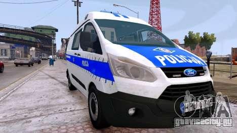 Ford Transit Polish Police 2015 для GTA 4