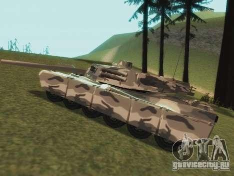 Rhino зимний камуфляж для GTA San Andreas вид сзади