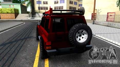 Nissan Patrol Y60 Off-road для GTA San Andreas вид сзади слева