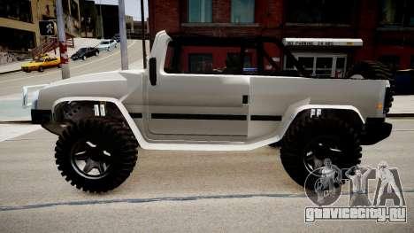 Patriot Jeep для GTA 4 вид слева