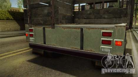 GTA 5 Vapid Scrap Truck v2 IVF для GTA San Andreas салон