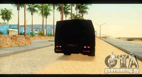ПАЗ 4234 Elite Gold для GTA San Andreas вид изнутри