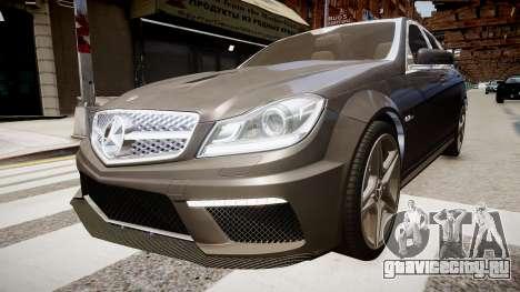 Mercedes-Benz C63 AMG для GTA 4 вид справа