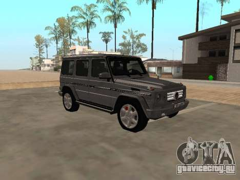 Mercedes-Benz G500 Armenian для GTA San Andreas вид сзади слева