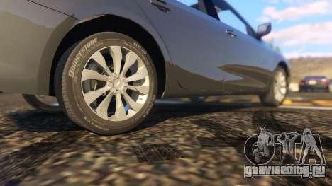 Chevrolet Malibu 2017 для GTA 5 вид сзади справа