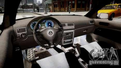 Volkswagen Golf EA v.2 для GTA 4 вид изнутри