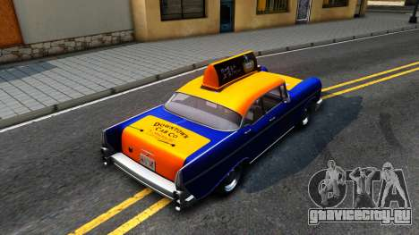 GTA V Declasse Cabbie для GTA San Andreas вид сзади