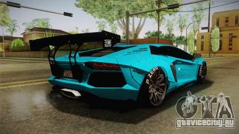 Lamborghini Aventador LP700-4 Liberty Walk LB для GTA San Andreas вид слева