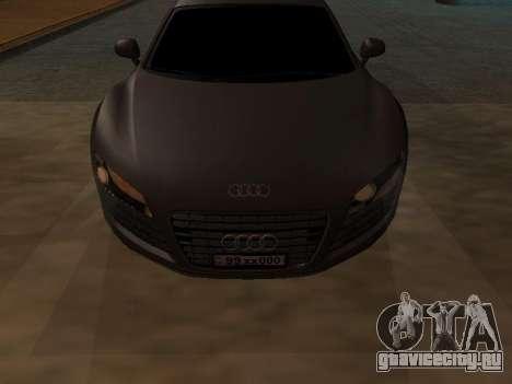 Audi R8 Armenian для GTA San Andreas вид слева
