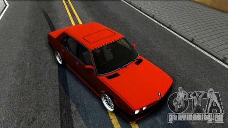 BMW E28 M5 для GTA San Andreas вид справа