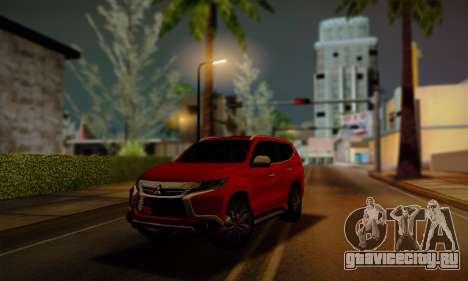 Mitsubishi Pajero Sport 2016 для GTA San Andreas вид сзади слева