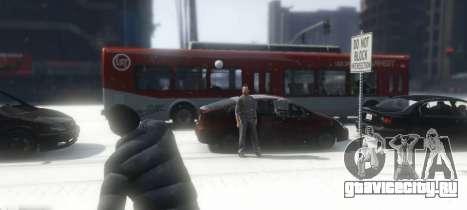 Snowballs in Singleplayer для GTA 5 третий скриншот