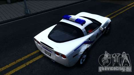 Chevy Corvette Z06 Hometown PD 2006 для GTA San Andreas вид сзади