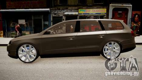 Volkswagen Passat Variant R50 Dub для GTA 4 вид сзади слева