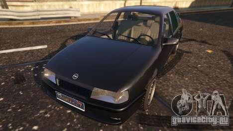 Opel Vectra A для GTA 5 вид сзади