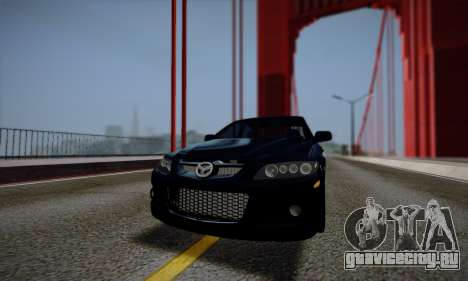 Mazda 6 MPS для GTA San Andreas вид сверху