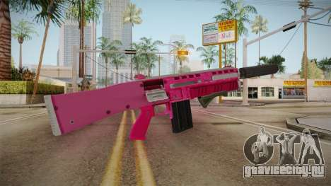 GTA 5 Assault Shotgun Pink для GTA San Andreas второй скриншот
