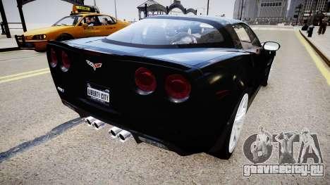 Chevrolet Corvette ZR1 v2.0 для GTA 4 вид сзади слева